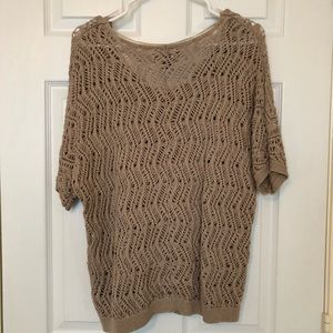 Open Weave Sweater With Camisole
